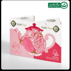 دمنوش چای سبز و گل محمدی ارگانیک