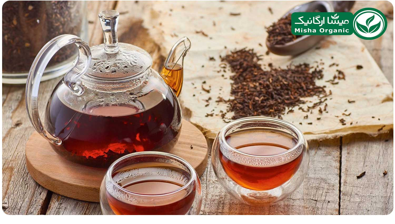 پیاله پرتقالی چای سیاه ارگانیک نافه