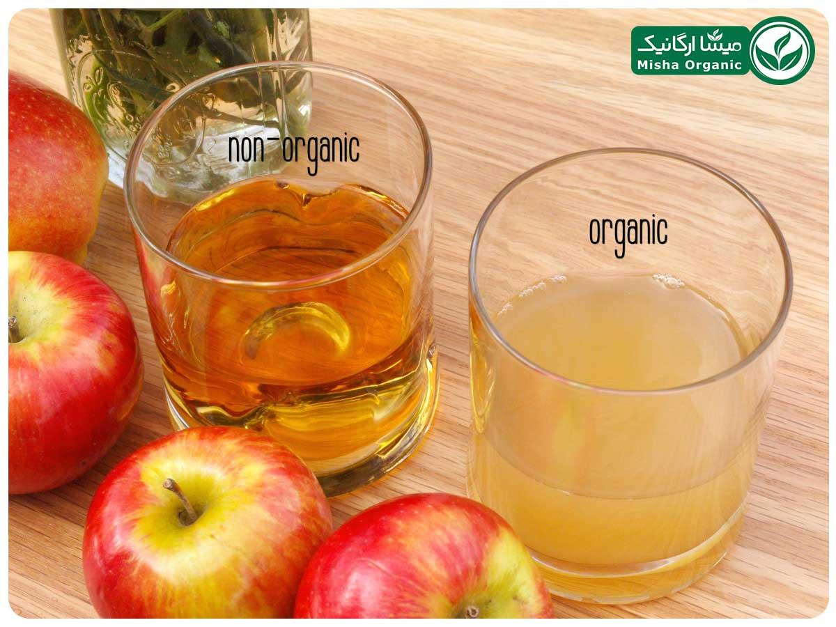 سرکه سیب ارگانیک و تجاری