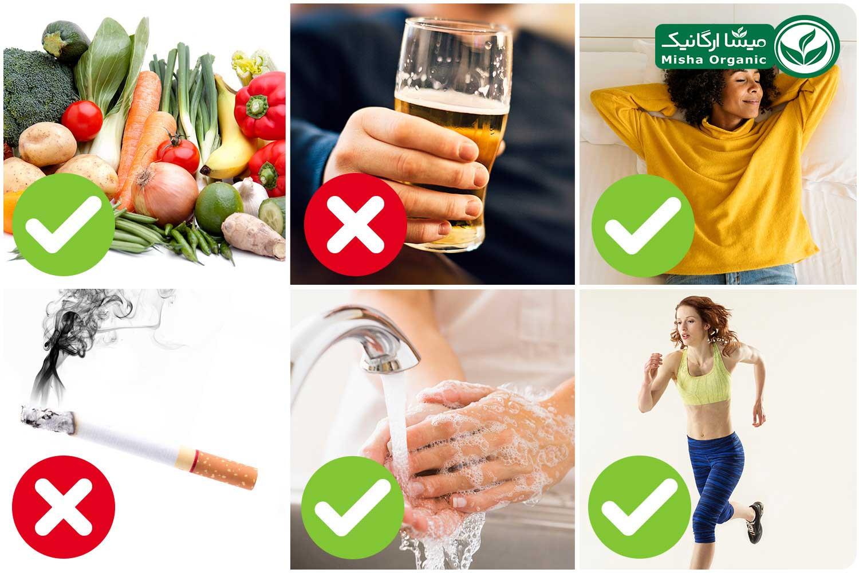 عادات غذایی صحیح برای مقابله با کرونا ویروس